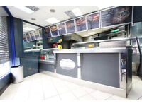 HESTON. Well established takeaway - set up for Pizza, chicken, fish & chips, shawarma