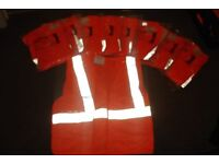 9 NEW Roebuck Orange Hi Vis Visibility Vest EN471 Safety Waistcoat Medium