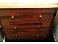 pine wardrobe & chest of draws .......Free local delivery