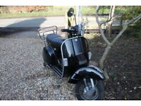 LML Star Deluxe 125cc Scooter Jet Black (Learner Legal)