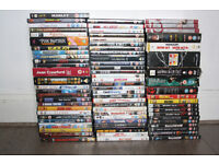 60+ DVDs for sale (various genres + list included)