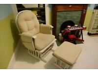 *SOLD* Gliding Nursing chair and footstool