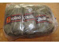 Green knitting yarn