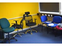 Good quality office adjustable computer chairs lot