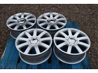"17"" Hyper Silver Alloy Wheels 4x100/108 4 Stud Early VW Golf Audi 80"