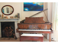 Broadwood Baby Grand Piano with 2 seater piano stool
