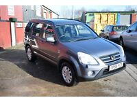 2005 HONDA CR-V VTEC SPORT 2.0 PETROL*HIGH SPEC*SUN ROOF*CRUISE CONTROL*LONG MOT*12 MONTHS AA COVER