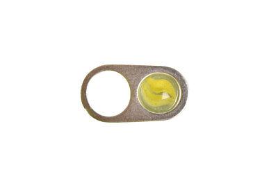Maison Margiela Womens Spin S56UQ0054 Ring Regular Silver Green Size M