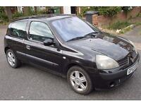 2004 Renault Clio 1.2 16V Dynamique * MOT * Excellent Runner With Minor Faults. for spares or parts