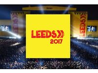 SOLD ** 2 Weekend Camping Tickets for Leeds Festival 2017 ** SOLD