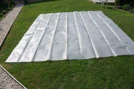 tarpaulin 3.4m x 3.9m in heavy duty plastic