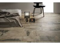 Old Wood Maple Beige Wood Effect Porcelain Tiles 22.5x90cm - Price Per Square Metre