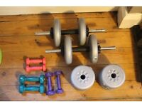 York Dumbell Weights and Pro Fitness Weights