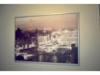 Large Picture Of Paris Landscape Print Very Artistic Size: 140cm Length x 100cm height Only £20