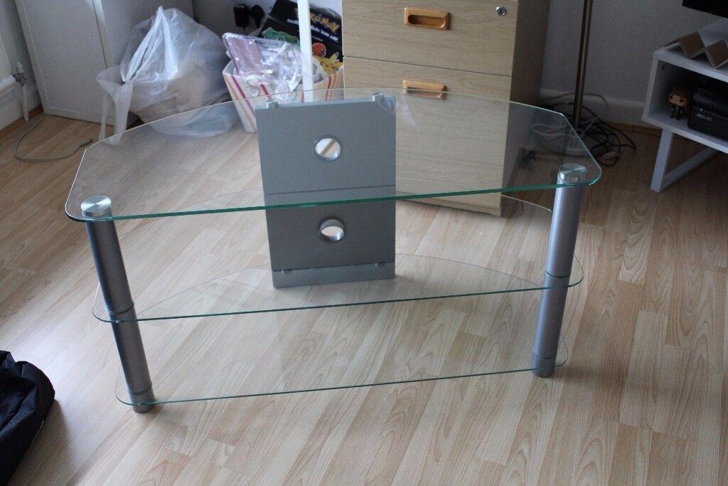 3 Tier Glass TV Entertainment Unit / Stand