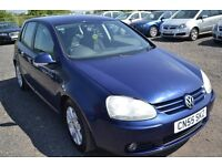 2005 (55) VOLKSWAGEN GOLF 2.0 GT TDI 5 DOOR 6 SPEED MANUAL 2 KEEPERS LONG MOT