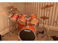 Drum set MAPEX VXB honey Amber with Zildjian ZBT rock cymbals