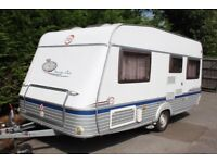 TEC Travel King Cris-Reg 2007 4 Berth Fixed Bed Caravan + Motor Movers