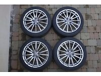 "18""Alloy Rims and Yokohama Tyres - Audi VW (5X112MM fit) 1640 miles from new!! immaculate"