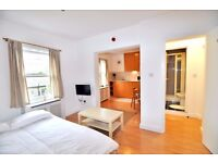 EARL'S COURT-Great modern spacious studio apartment with open plan kitchen