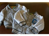Twin boys baseball style jackets (M&S) Aged 18-24 months