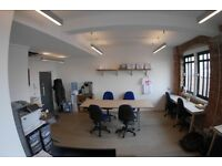 Bright desk space in communal office availble