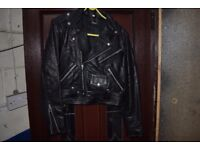 Vintage Brando Style Leather Motorcycle Jacket