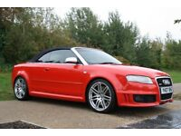 2007 Audi RS4 Cabriolet 4.2 Quattro 2dr MANUAL, V8, HUGE SPEC, TUNED, LOW MILEAGE, WARRANTY, PX POSS
