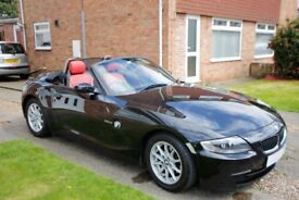 BMW Z4 2.5Si Se Roadster - 2007 Sapphire Black & Red Leather FSH 82K Very Good Condition