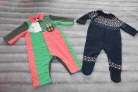 Boys two rompers 3-6 months (one still with tug)