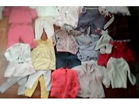 3-6mths nearly new baby girl clothes
