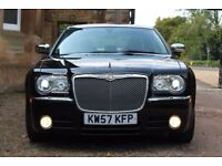 2008 Black Chrysler 300C LUX CRD 3.0 V6 Automatic Saloon with low miles only 32000