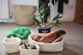 Multipurpose Lidan baskets in Beige.