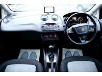 SEAT IBIZA 1.2 TSI SE DSG AUTOMATIC 5DR HATCHBACK SATNAV FSH HPI CLEAR EXCELLENT CONDITION