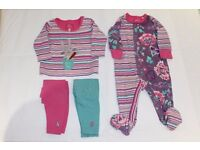 Joules Sleepsuit (3-6m), Top & Trousers (0-3m)