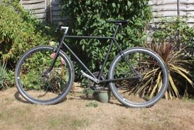 Matt Black Steel Road Bike Single Speed