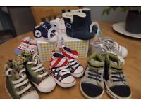 BABY SHOES BUNDLE 8 PAIRS ages 0-18 months, Excellent Condition!