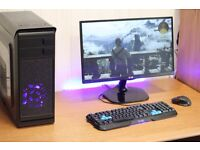 Fast Great Value Gaming PC Desktop Computer Tower Windows 10 Nvidia GTX Graphics Card 8GB Ram