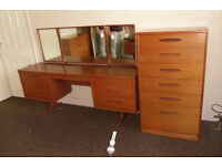 austinsuite treble mirror dressing table teak vintage