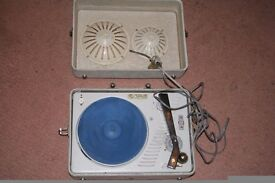 Old Ets R. Barbotte portable electric gramophone