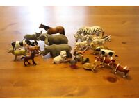 Collection of farm and zoo animals