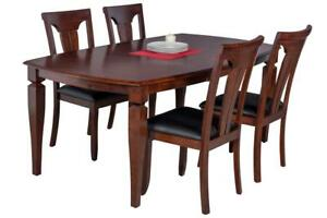Victoria Boat Shape Five Piece Dining Set In Espresso