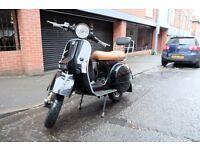 Vespa PX125 Black & Tan - 12 month MOT, Fully Working - Bargain!