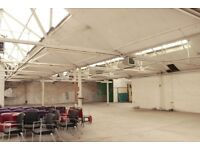 New film & photo space available for short term hire in a South London warehouse building