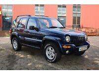 2003 JEEP CHEROKEE LIMITED CRD 2.8 DIESEL A BLUE