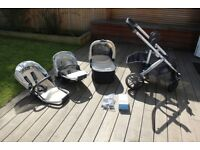 Uppababy Vista 2015 Pushchair, Carrycot + Rumble Seat