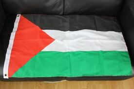 PALESTINIAN NATIONAL FLAG Brand New Cloth Flag c/w Eyelets 60 cm x 93 cm £2