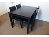Dining Table & Chair Set - Black