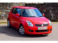2008 AUTOMATIC SUZUKI SWIFT GLX 5 DOOR 1.5*KEYLESS*PARKING AID*3 MONTHS WARRANTY*SERVICE HISTORY*