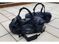 Two Berghaus Mule 60 Holdalls. (Converts to backpack if required)